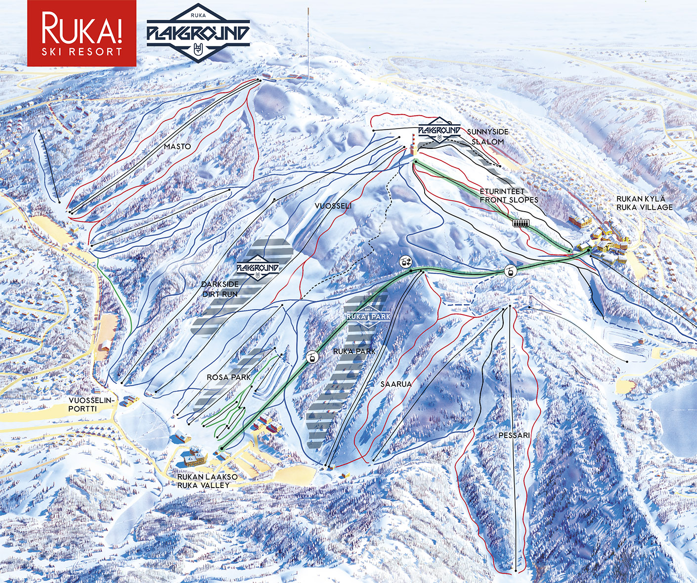 Ruka Playground map